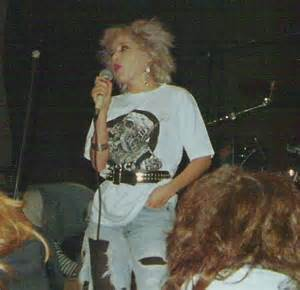 Daisy Anarchy (touring with 'Millions of Dead Cops M.D.C.') reciting her poetry autumn '87